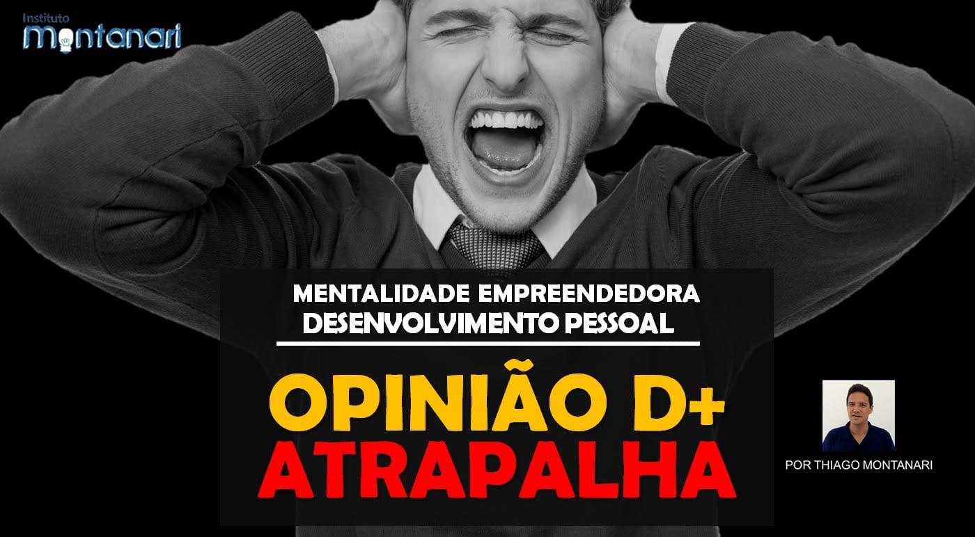 Read more about the article Desenvolvimento Pessoal | Mentalidade Empreendedora | Opinião de mais atrapalha!