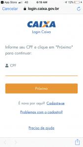 Cadastro App FGTS