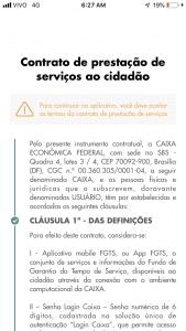 tela app fgts contrato