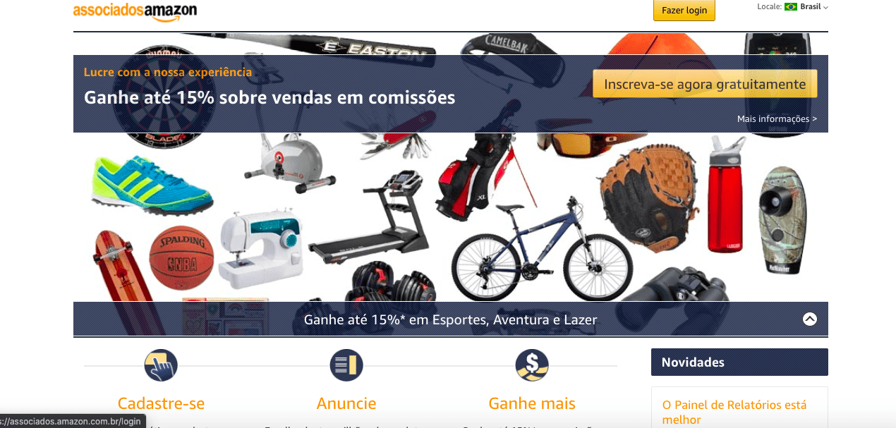 Site Associados Amazon - Marketing de Afiliados
