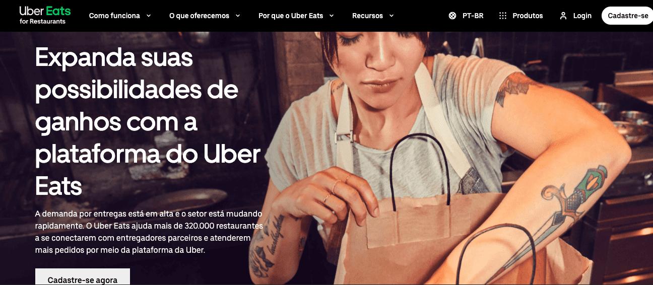 Uber Eats Site