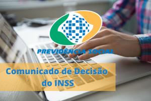 Comunicado de decisão do INSS: Como Acessar