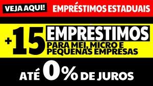 15 Empréstimos para MEI, Micro e Pequenas Empresas oferecidas pelos governos estaduais