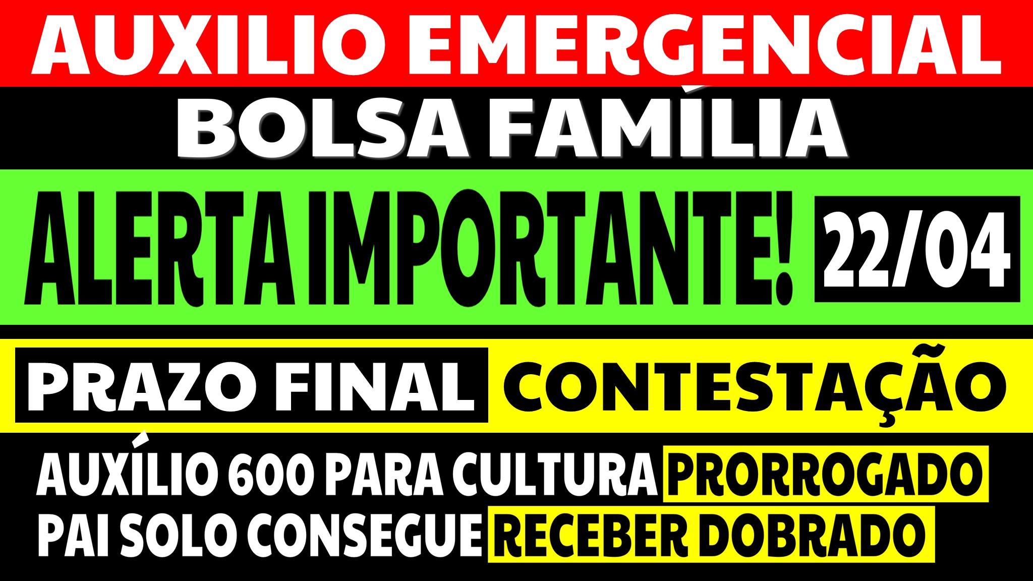 Auxílio Emergencial Contestação Prazo Final é Hoje