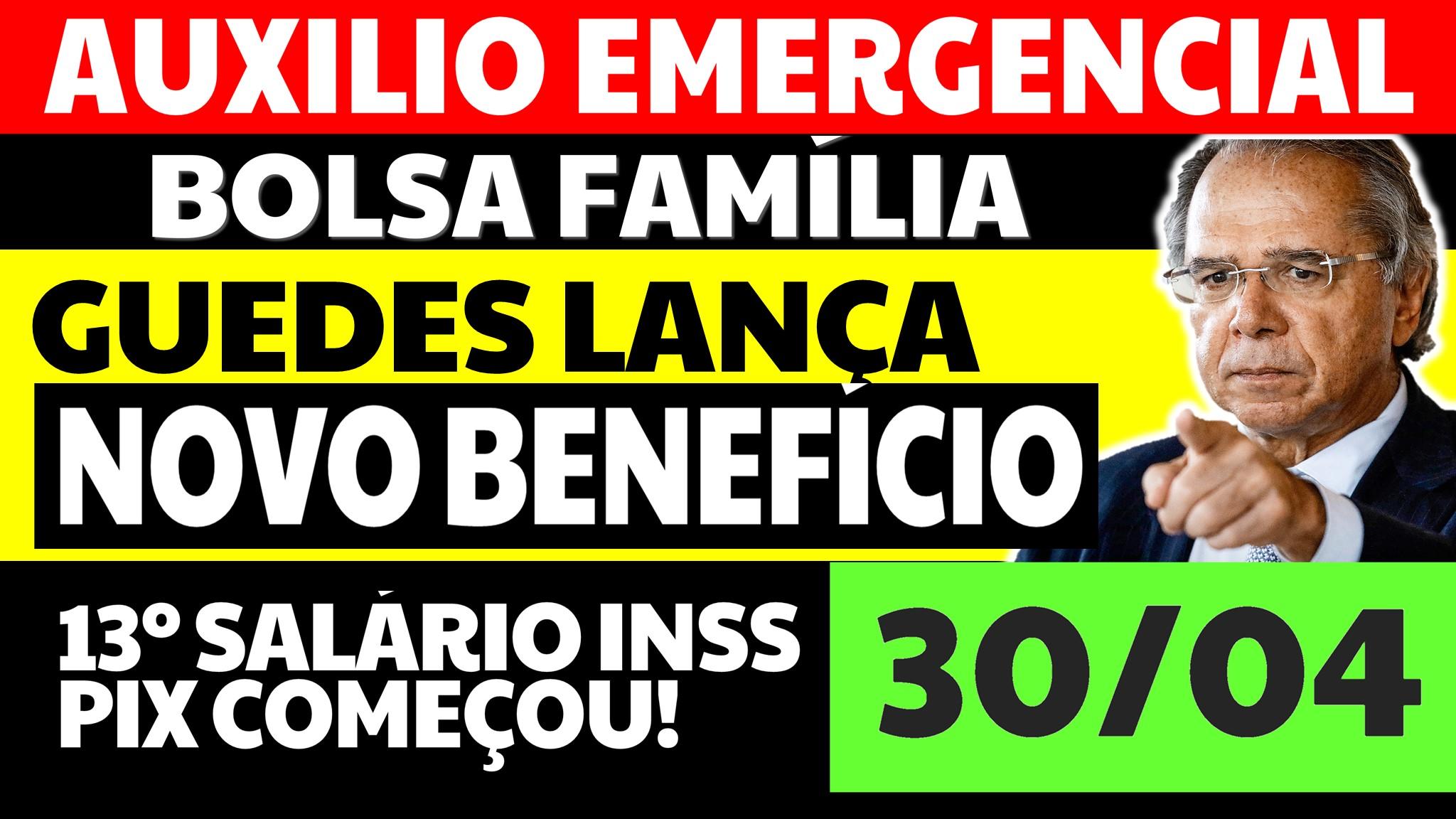 """Auxílio Emergencial Hoje: GUEDES LANÇA NOVO BENEFÍCIO, O """"BIP"""""""
