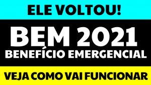Novo BEM 2021: Publicada MP para volta do Benefício Emergencial