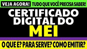 Read more about the article Certificado Digital MEI: o que é, para que ele serve e como emiti-lo?