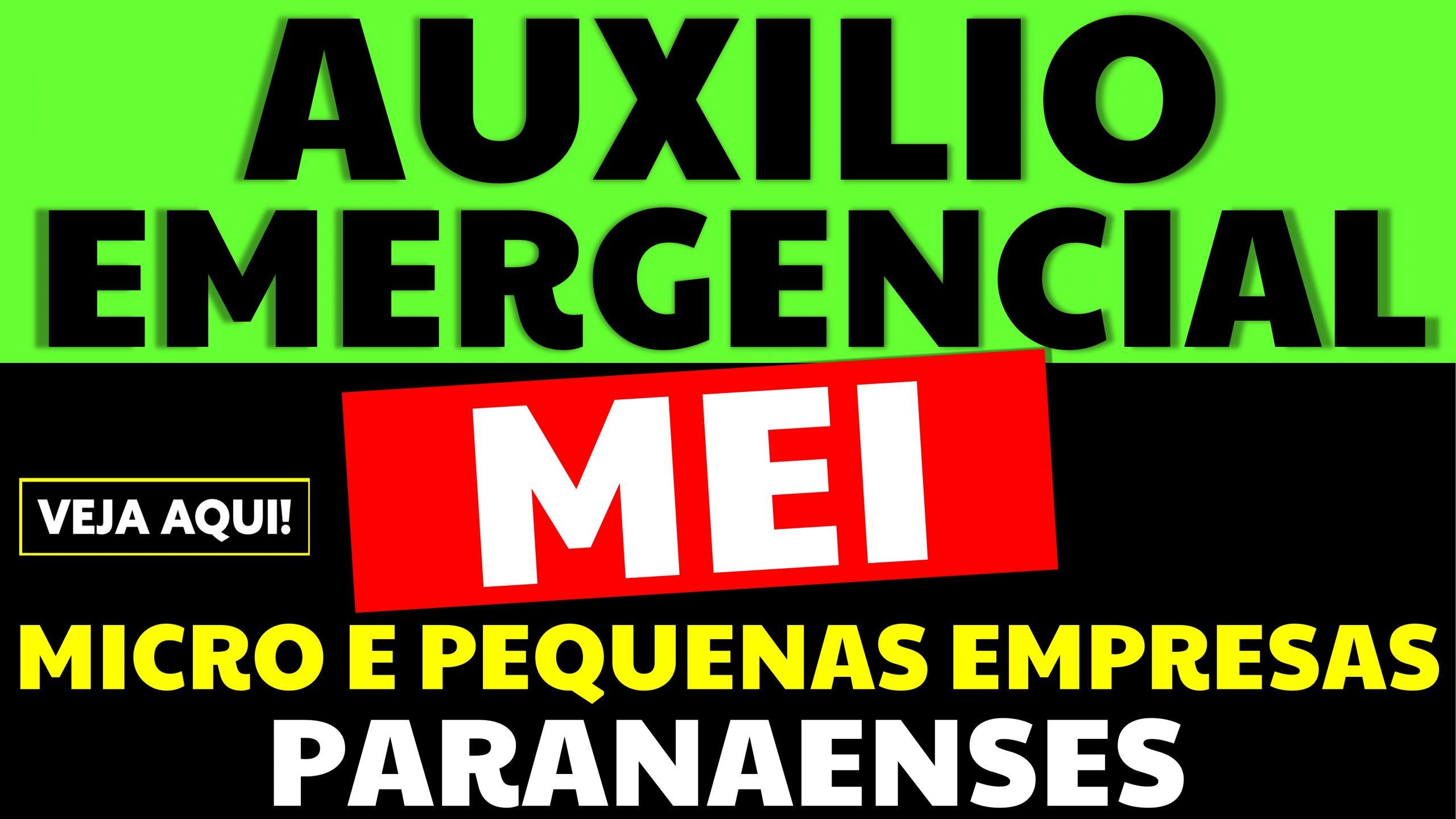 Auxílio emergencial para MEI e Empresas Paranaenses