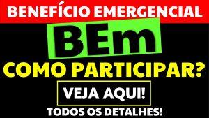 Benefício Emergencial tem 1 milhão de acordos. Veja como participar!