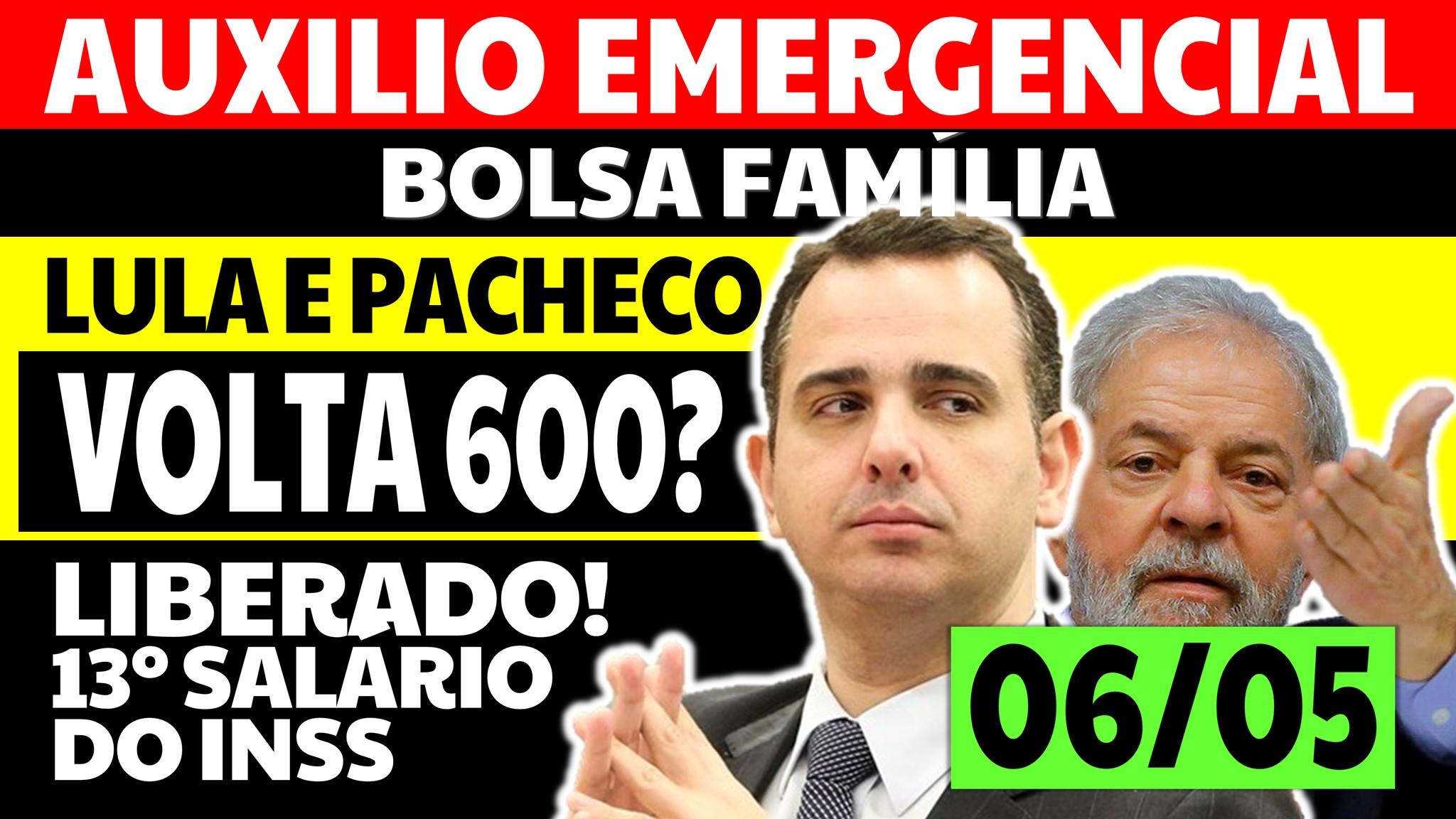 Auxílio Emergencial Hoje: Lula e Pacheco se encontram e vão falar da volta dos R$ 600