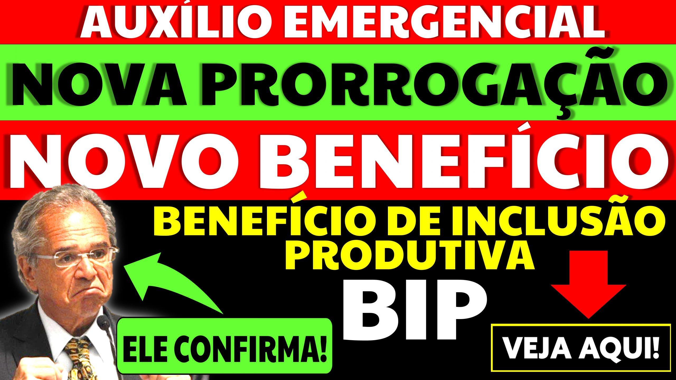 Guedes fala sobre o BIP e sobre a Prorrogação do Auxílio Emergencial