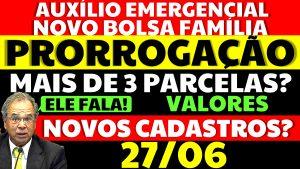 Read more about the article Auxílio Emergencial Hoje – 27/06