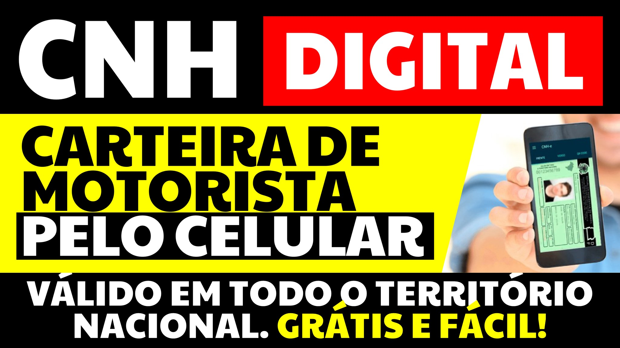 CNH DIGITAL CARTEIRA DE MOTORISTA DIGITAL APP PELO CELULAR