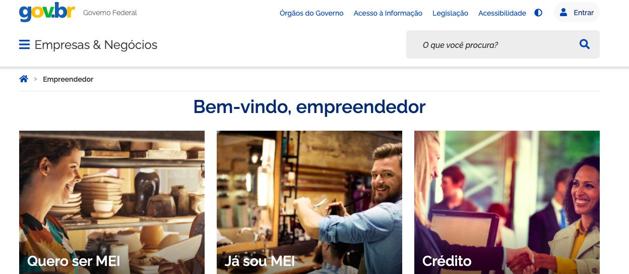 portal do empreendedor para alterar endereço do MEI