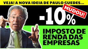 Read more about the article Imposto de Renda Pessoa Jurídica pode cair 10%