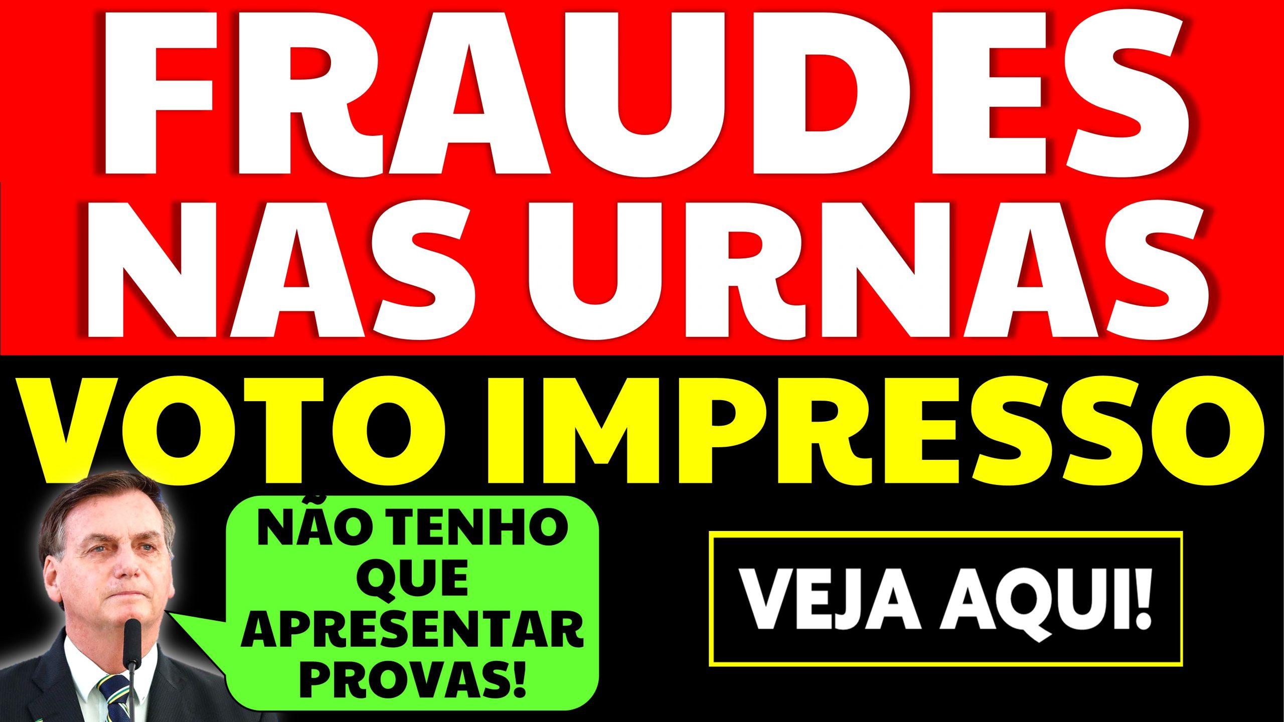"""Read more about the article Fraudes nas Urnas: Bolsonaro diz """"não tenho que apresentar provas"""""""